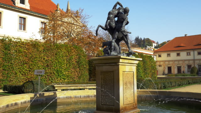 Sculptured Fountain In Prague Wallenstein Garden