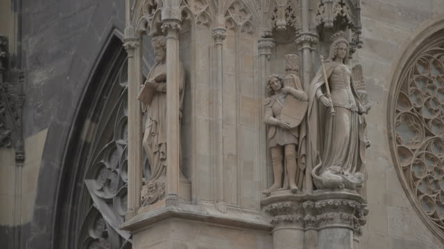 sculptures on stephansdom (st. stephen's cathedral) / vienna, austria - austria stock videos & royalty-free footage