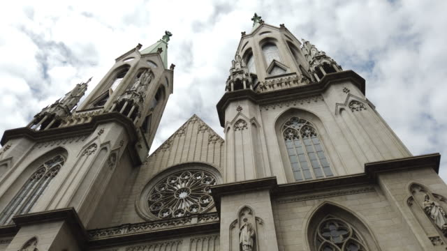 se cathedral in sao paulo city - gothic style stock videos & royalty-free footage