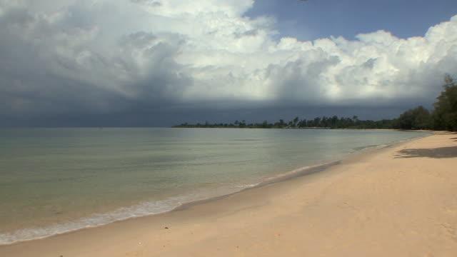 ws pan sea and beach, sihanouksville, cambodia - cambodia stock videos & royalty-free footage