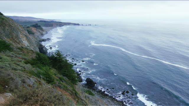 Sea and coastline of Pacific Coast Highway (Highway 1), California