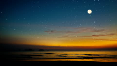 sea and moon - star shape stock videos & royalty-free footage