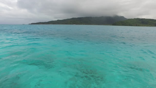 sea and mountain - tahaa island stock videos & royalty-free footage