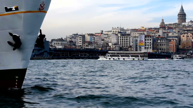sea and ship - eminonu district stock videos and b-roll footage
