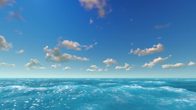 sea and sky - digital animation stock videos & royalty-free footage
