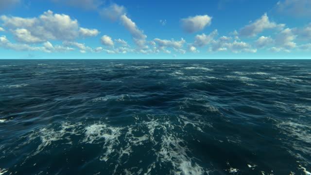 vídeos de stock e filmes b-roll de sea and sky - cena de tranquilidade