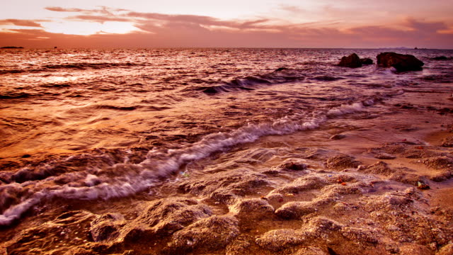 sea and sunset - high dynamic range imaging stock videos and b-roll footage