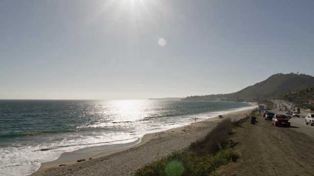 sea and way - santa barbara california stock videos and b-roll footage