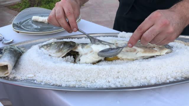 Sea bass in Salt crust
