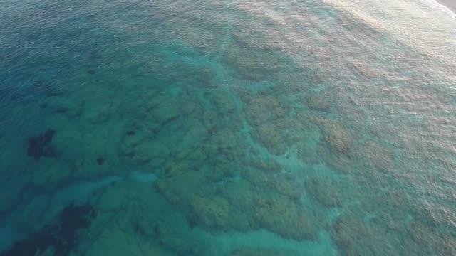 Sea beach aerial footage
