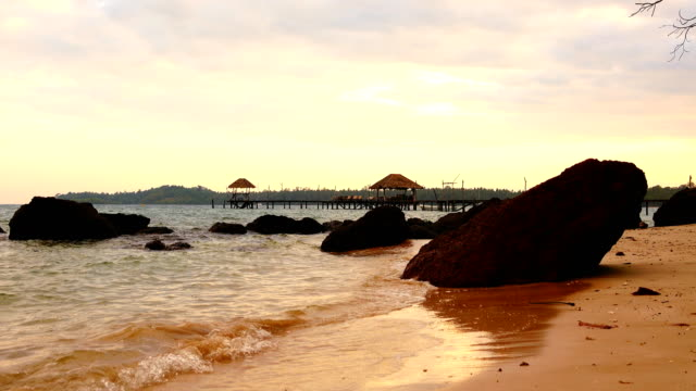 sea bridge in koh mak, province trat in thailand. - trat province stock videos and b-roll footage