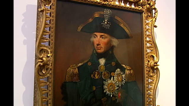 sea cadets commemorate death of lord nelson r13110612 / london national maritime museum int close up of portrait of admiral horatio nelson oil... - admiral nelson stock videos and b-roll footage