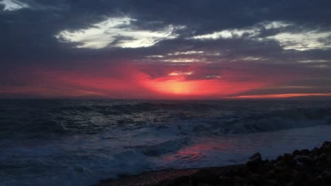 sea coast during sunset - seascape stock videos & royalty-free footage