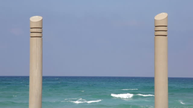 porta di mare - haifa video stock e b–roll