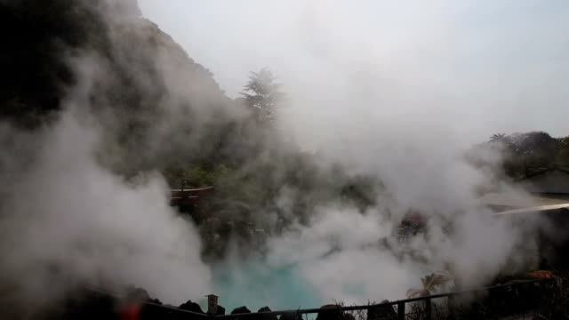 sea hell in beppu, japan - hot spring stock videos & royalty-free footage