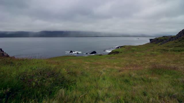 冰島峽灣的海,夏季 - 自然奇觀 個影片檔及 b 捲影像