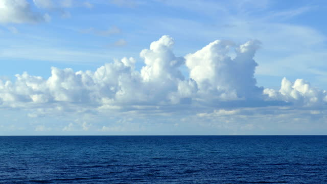 sea landscape with beautiful clouds (time lapse)