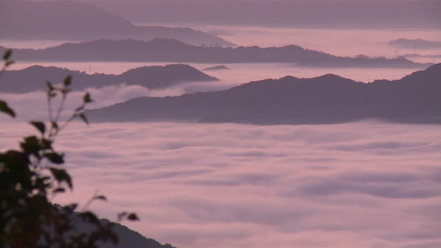 Sea of clouds at the Oeyama Ranges