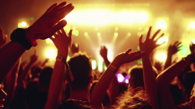 sea of hands på en konsertfest. - vifta bildbanksvideor och videomaterial från bakom kulisserna