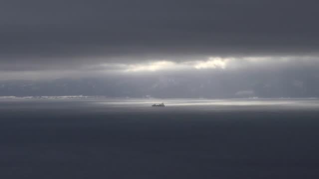 sea of hotokegaura and ship, aomori, japan - pacific ocean stock videos & royalty-free footage