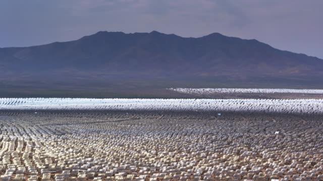 Sea of Mirrors at Ivanpah Solar Facility - Drone Shot
