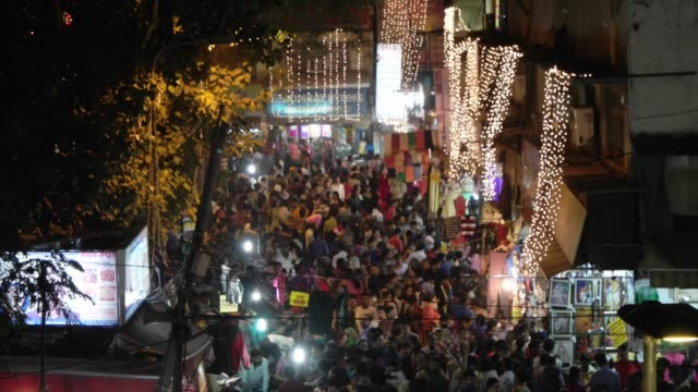 sea of people shopping for diwali in sarojini nagar market/ diwali is an ancient hindu festival and one of the largest and brightest festivals in... - goddess stock videos and b-roll footage