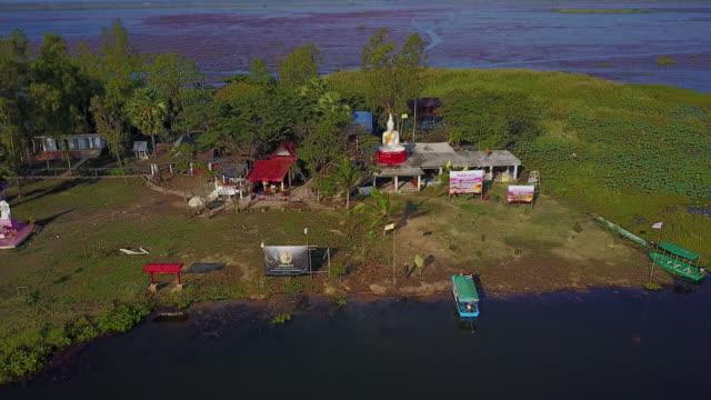 レッド ・ ロータス湖、タイの海 - ユリ点の映像素材/bロール