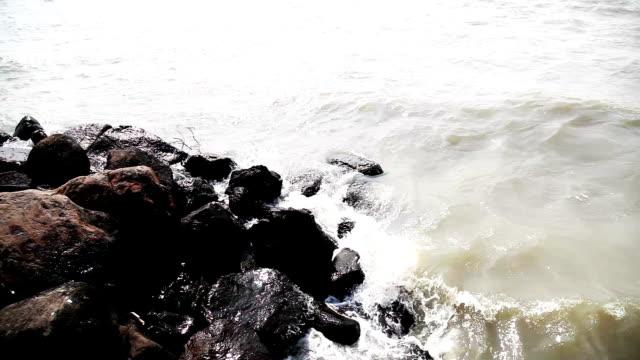 sea & rock - water's edge stock videos & royalty-free footage