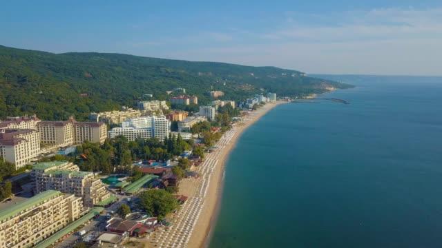 sea shores of the black sea /aerial - bulgaria stock videos & royalty-free footage