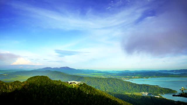 sea, sky and mountains - langkawi stock videos and b-roll footage
