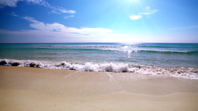 sea. sky. beach. holiday background - idyllic stock videos & royalty-free footage
