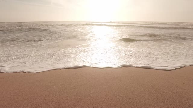 sea sunset in slow motion - water's edge stock videos & royalty-free footage