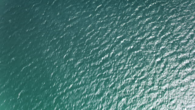 AERIAL Sea surface in sunshine