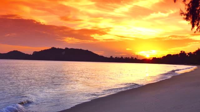 Das Meer bei Ebbe und Sonnenuntergang