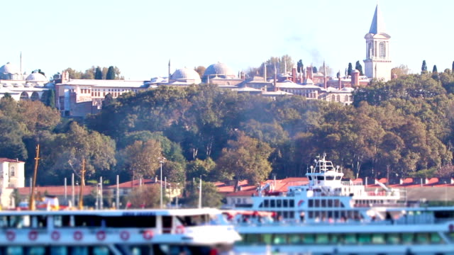 sea vessels in istanbul - topkapi palace stock videos and b-roll footage
