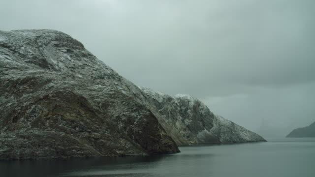 sea view along baffin island coastline - northwest passage stock videos and b-roll footage