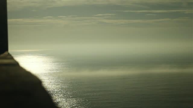 Blick auf das Meer von hohen Küste