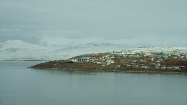 sea view of pond inlet in northern canada - inlet stock videos and b-roll footage