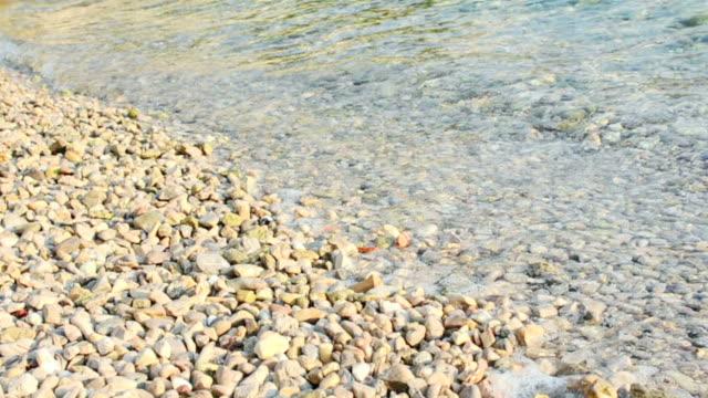 海水と石 - ツレス点の映像素材/bロール