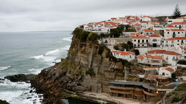 azenhas do mar, portugal coastal town. - lisbon stock videos and b-roll footage