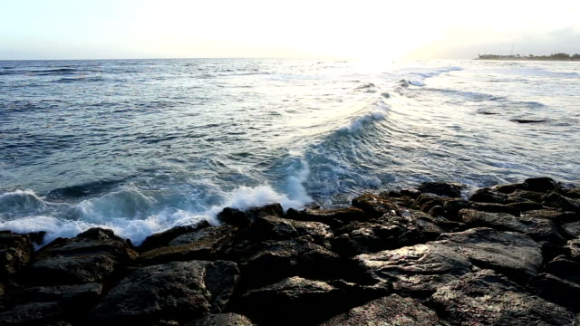 sea wave hit the rock - rock music stock videos & royalty-free footage