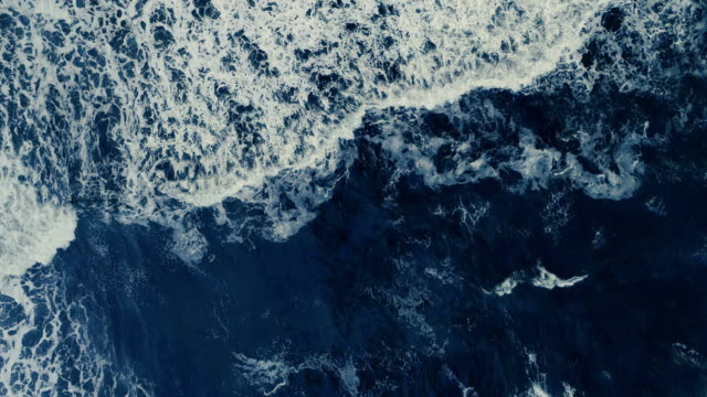 sea waves. aerial view - dark stock videos & royalty-free footage