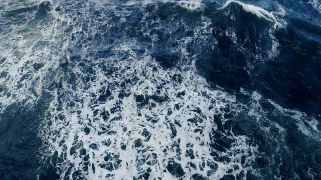 sea waves. aerial view - 4k resolution stock videos & royalty-free footage