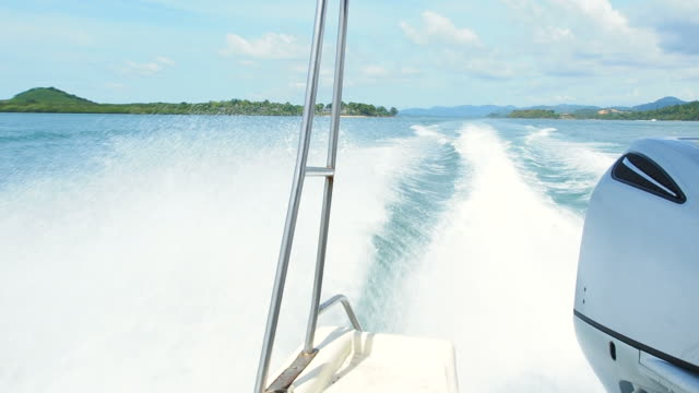 sea waves caused by speedboat - speed boat stock videos & royalty-free footage