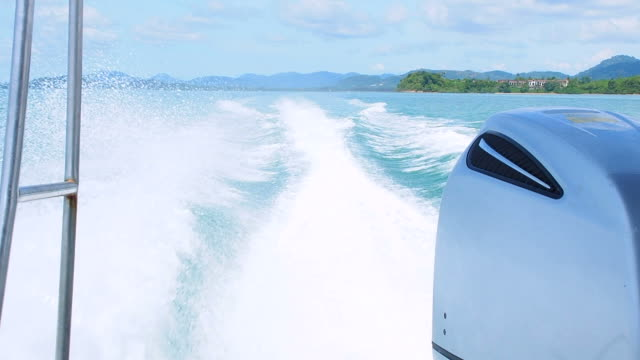 sea waves caused by speedboats - speed boat stock videos & royalty-free footage
