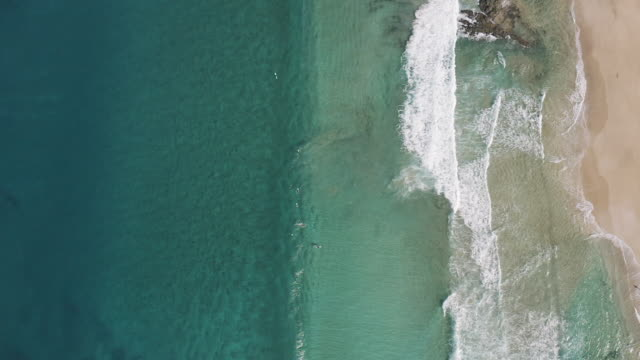 sea waves seen from above - turquoise coloured stock videos & royalty-free footage