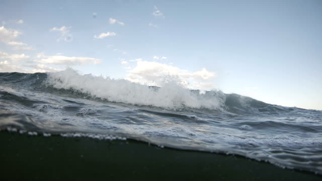 sea waves splashing at camera, dome half underwater view - audio available stock videos & royalty-free footage