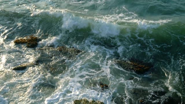 havsvågor - top synvinkel. 4k upplösning. - sea robin bildbanksvideor och videomaterial från bakom kulisserna