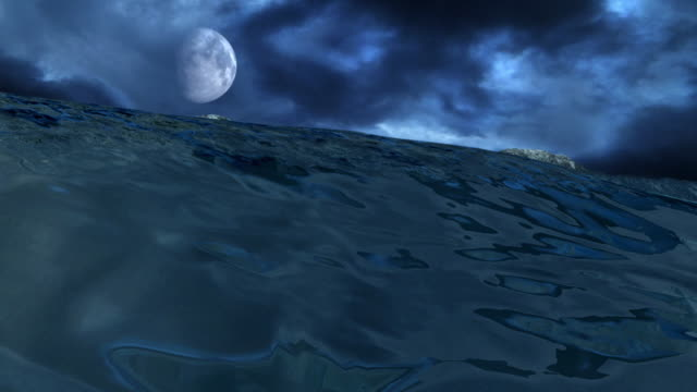 Sea With Moon