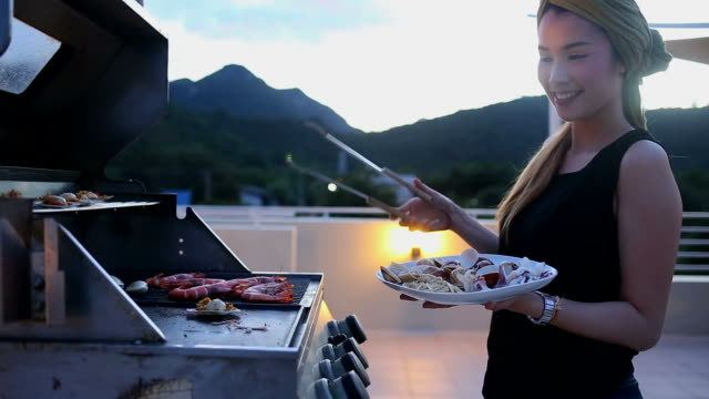 seafood barbecue - crustacean stock videos & royalty-free footage